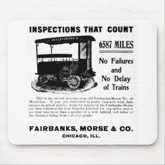 Fairbanks Morse Track Inspection Motor Car Mouse Pad