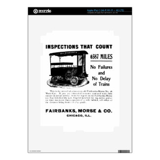 Fairbanks Morse Track Inspection Motor Car Skins For iPad 3