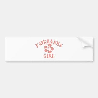 Fairbanks Pink Girl Car Bumper Sticker