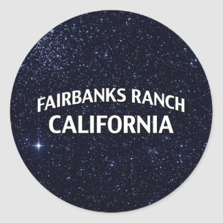 Fairbanks Ranch California Classic Round Sticker