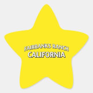 Fairbanks Ranch California Star Sticker