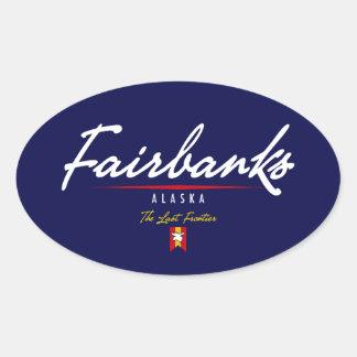 Fairbanks Script Oval Sticker