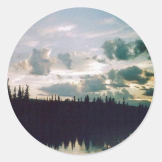 Fairbanks Sky Classic Round Sticker