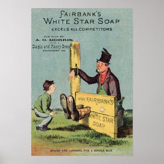 Fairbank's White Star Soap Ad w Seller Poster