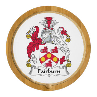 Fairburn Family Crest Round Cheeseboard