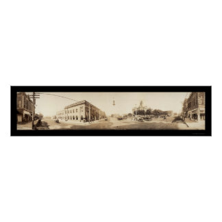Fairbury, NE Photo 1909 Print
