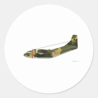 Fairchild C-123 Provider Classic Round Sticker