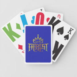 Playing Cards with Descendants Fairest Logo design