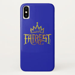 Case-Mate Barely There iPhone X Case with Descendants Fairest Logo design