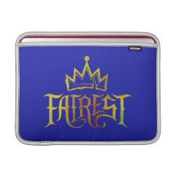 Macbook Air Sleeve with Descendants Fairest Logo design