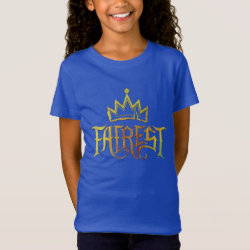 Girls' Fine Jersey T-Shirt with Descendants Fairest Logo design