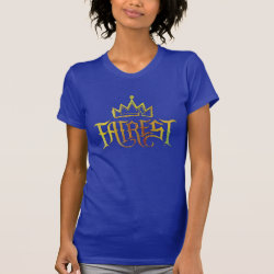 Women's American Apparel Fine Jersey Short Sleeve T-Shirt with Descendants Fairest Logo design