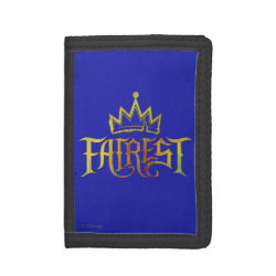 TriFold Nylon Wallet with Descendants Fairest Logo design