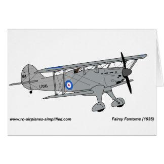 Fairey Fantome airplane Card