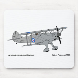Fairey Fantome airplane Mouse Pad