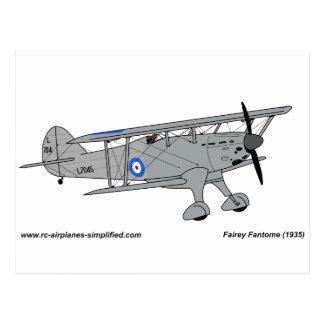 Fairey Fantome airplane Postcard