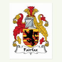 Fairfax Family Crest Postcard
