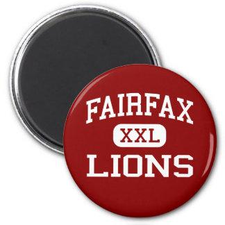 Fairfax - Lions - High - Los Angeles California Magnet