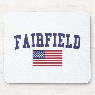 Fairfield CA US Flag Mouse Pad