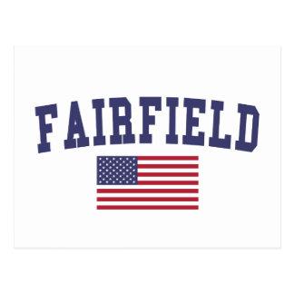 Fairfield CA US Flag Postcard