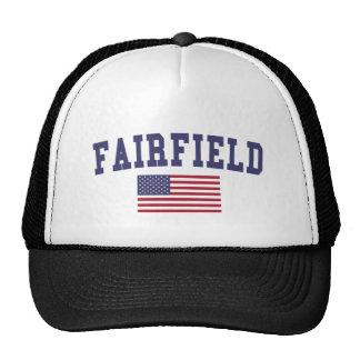 Fairfield CA US Flag Trucker Hat