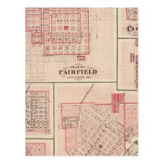 Fairfield, Carroll, Birmingham, Dunlap Tarjeta Postal