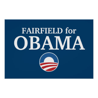 FAIRFIELD for Obama custom your city personalized Print