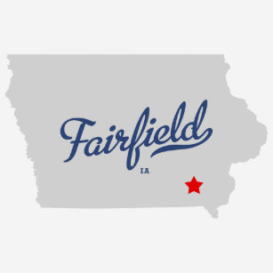 Fairfield Iowa Map Gifts On Zazzle