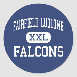 Fairfield Ludlowe - Falcons - alto - Fairfield Pegatina Redonda