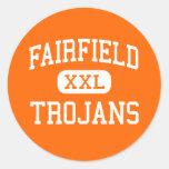 Fairfield - Trojan - mayor - Fairfield Iowa Etiquetas Redondas