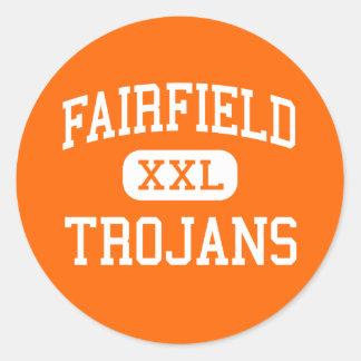 Fairfield - Trojan - mayor - Fairfield Iowa Pegatina Redonda