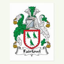 Fairfowl Family Crest Postcard