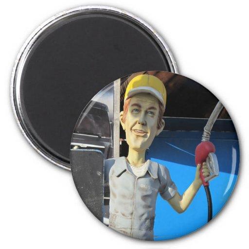 Fairground Character Pump Attendant Magnet
