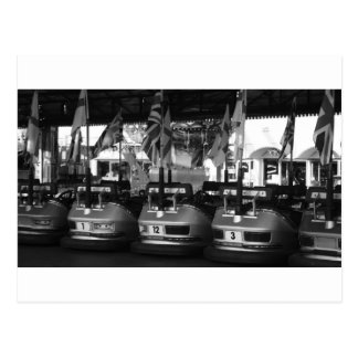 Fairground Dodgem Bumper Car Post Card