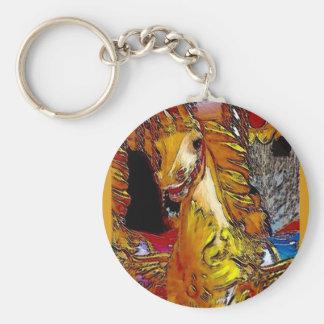 Fairground Horse Keychain