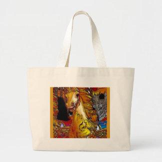 Fairground Horse Large Tote Bag