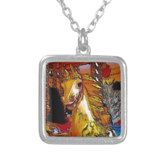 Fairground Horse Silver Plated Necklace