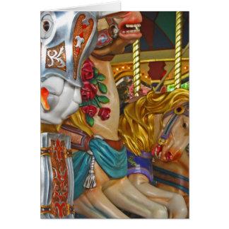 Fairground Horses Card