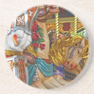 Fairground Horses Drink Coaster