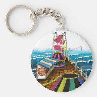 Fairground Peer and Ferris Wheel Keychain