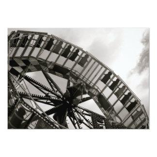 Fairground Ride Invitation 13 Cm X 18 Cm Invitation Card