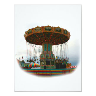 Fairgrounds Swings Stopped Against Grey sky Personalized Invite