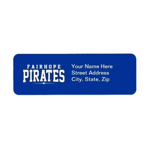 Fairhope High School; Pirates Custom Return Address Label