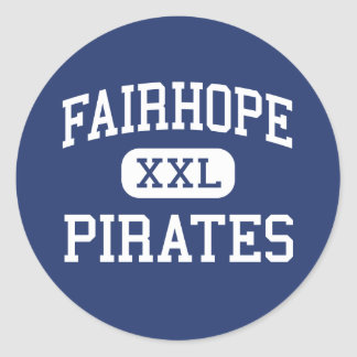 Fairhope piratea Fairhope medio Alabama Pegatina Redonda
