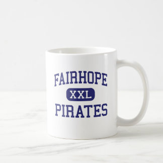 Fairhope piratea Fairhope medio Alabama Taza Básica Blanca