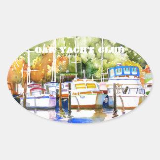 Fairhope Yacht Club Oval Sticker