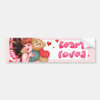 FAIRIE AND BEAR CUTE Bumper Sticker