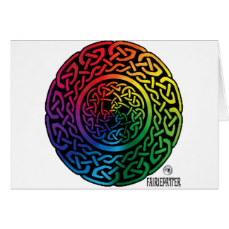 Fairie Patter - Rainbow Celtic Knotwork Cards