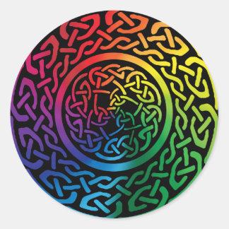 Fairie Patter - Rainbow Celtic Knotwork Classic Round Sticker
