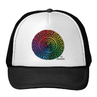 Fairie Patter - Rainbow Celtic Knotwork Hats